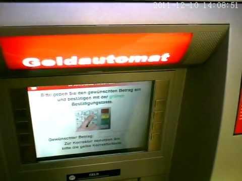 Geld Abheben Am Automaten Youtube