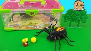 Shopkins Visit Interactive Attack Wild Pets Exclusive Spider In Cage Habitat at Zoo - Cookieswirlc thumbnail