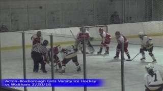 Acton Boxborough Girls Ice Hockey vs Waltham 1/20/16