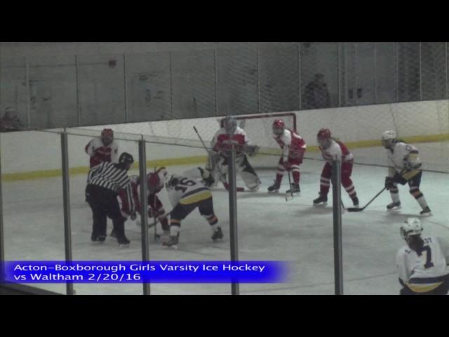Acton Boxborough Girls Ice Hockey vs Waltham 1/20/16