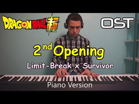 Dragon Ball Super OPENING 2 - Limit-Break x Survivor PIANO (ドラゴンボール 超 ( スーパー ) (Chords in subtitles)