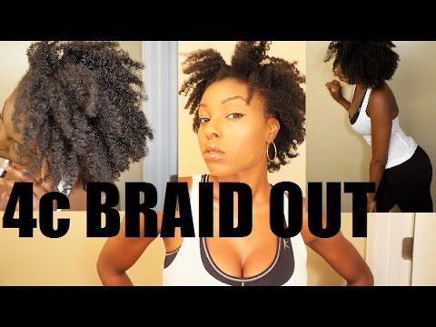 BRAID OUT On 4c NATURAL HAIR YouTube