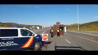Прохождение границы во время карантина Португалия Испания Загрузка возле дачи Порошенко