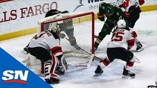 Keith Kinkaid Coughs Up Puck Behind Net To Hand Joel Eriksson Ek Easy Goal