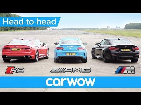 New Audi RS5 v BMW M4 v Mercedes-AMG C63S Drag and Rolling Race | Head2Head