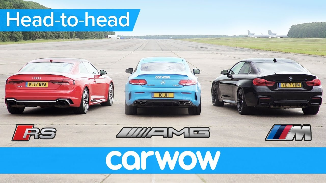 New Audi Rs5 V Bmw M4 V Mercedes Amg C63s Drag And Rolling Race