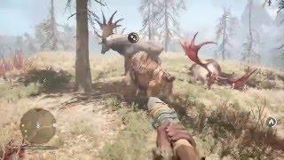 Far Cry Primal: Saber-toothed cat vs Irish Elk