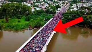 🔴 New Wave Of Migrant Caravan Crossing Border Bridge - POLICE TAKING ACTION !!