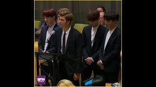 """À l'ONU, le groupe de K-pop BTS appelle à """"écouter sa voix intérieure"""""""