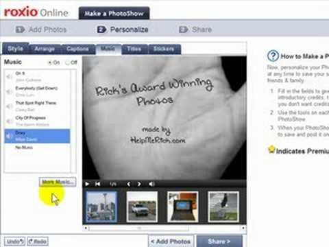 How to create an impressive photo slideshow online