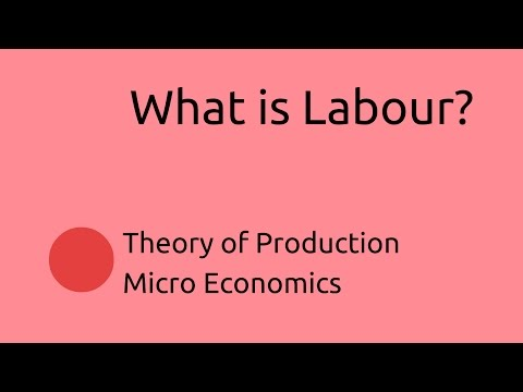 What is Labour | Production | CA CPT | CS & CMA Foundation | Class 11 | Class 12