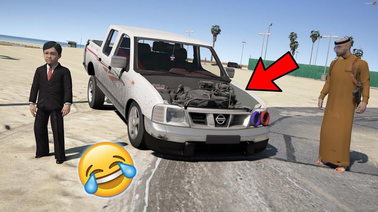 مسلسل ابو علوش ( 9 ) يخلي الطفل يسوق سيارة - ضحك لايفوتكم - GTA V Child By