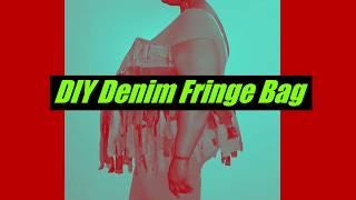 DIY Denim Fringe Bag