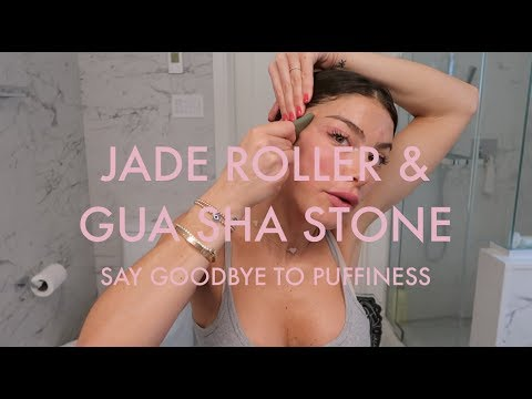SAY GOODBYE TO PUFFINESS WITH THESE 2 SUPER AFORDABLE BEAUTY TOOLS! JADE ROLLER & GUA SHA TUTORIAL! thumbnail