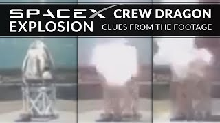 "SpaceX Crew Dragon capsule suffered an ""anomaly"" - Clues from the footage thumbnail"