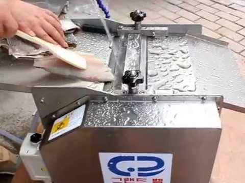 Fish skinning machine squid skinning machine youtube for Fish skinner machine