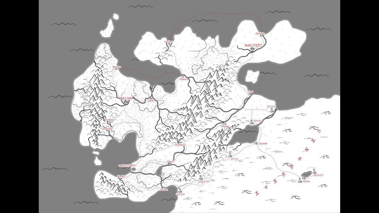 Quick Drawing Of A Basic Fantasy Map In Photoshop YouTube - How to draw basic us map