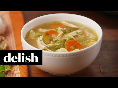How to Make Crock-Pot Chicken Noodle Soup | Recipe | Delish