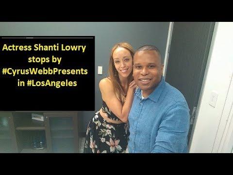 Bronx SIU star Shanti Lowry stops by Cyrus Webb Presents in Los Angeles