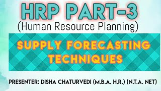 This video describes different techniques of#forecastingsupply of#human resources.ex.-#markovanalysis, #successionanalysis, #trendanalysis etc. -------------...