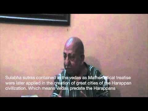 Sarasvati River and the Vedic Civilisation. Interview with Dr. NS Rajaram - Part 1