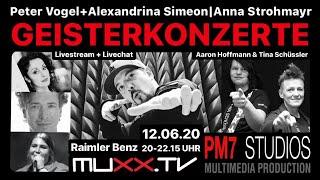 Geisterkonzert: Peter Vogel & Alexandrina Simeon, Anna Strohmayr, Raimler Benz, Tina Schüssler Band