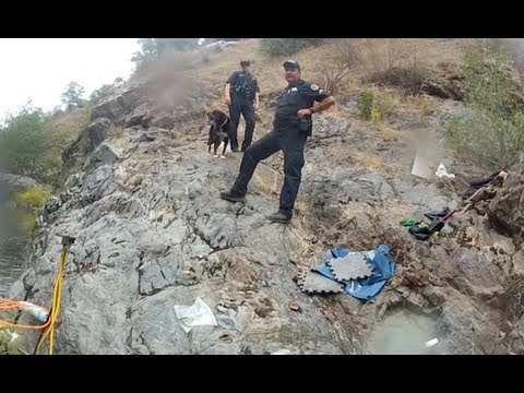 continuous gold mining operation on video and police show up long