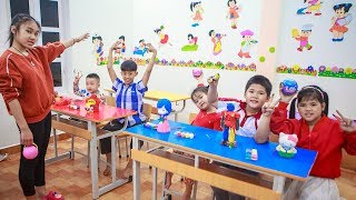 Kids Go To School   Chuns With Best Friends Learn To Draw Painted Objects
