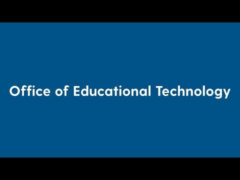 Click to play video Office of Educational Technology