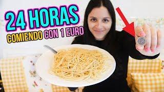 24 horas comiendo por 1€ - I Only Spend €1 Food for 24 Hours Challenge Natalia