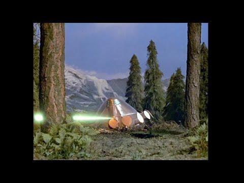 "UFO series: episode ""Computer Affair"". SHADO hunts aliens of shot down UFO."