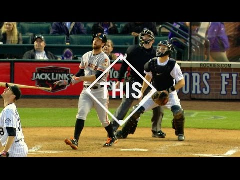 #THIS: Belt homers to the third deck at Coors Field