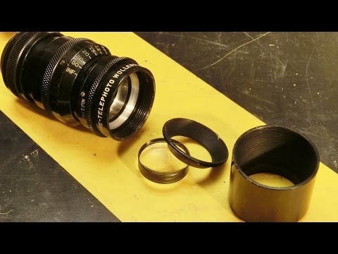 C-Mount Lens Repair/Cleaning for Bolex H16: Wollensak Telephoto Lens