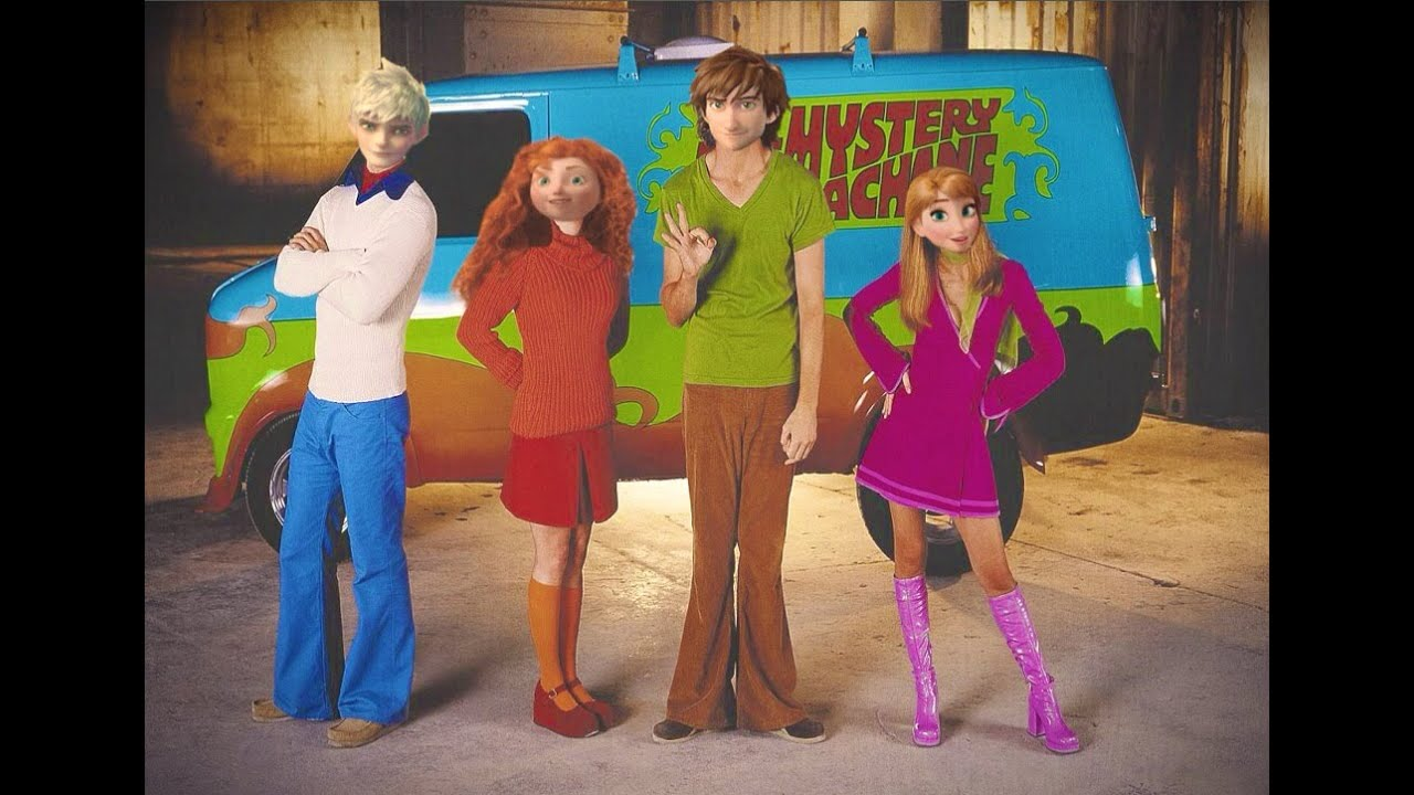 Scooby Doo Daphne And Shaggy Mystery Inc. Animated/...