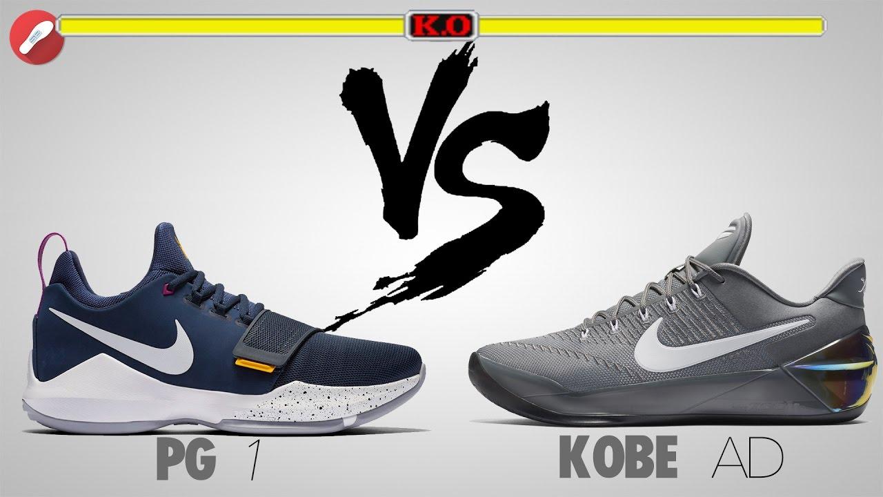 Nike PG 1 vs Kobe A.D! - YouTube