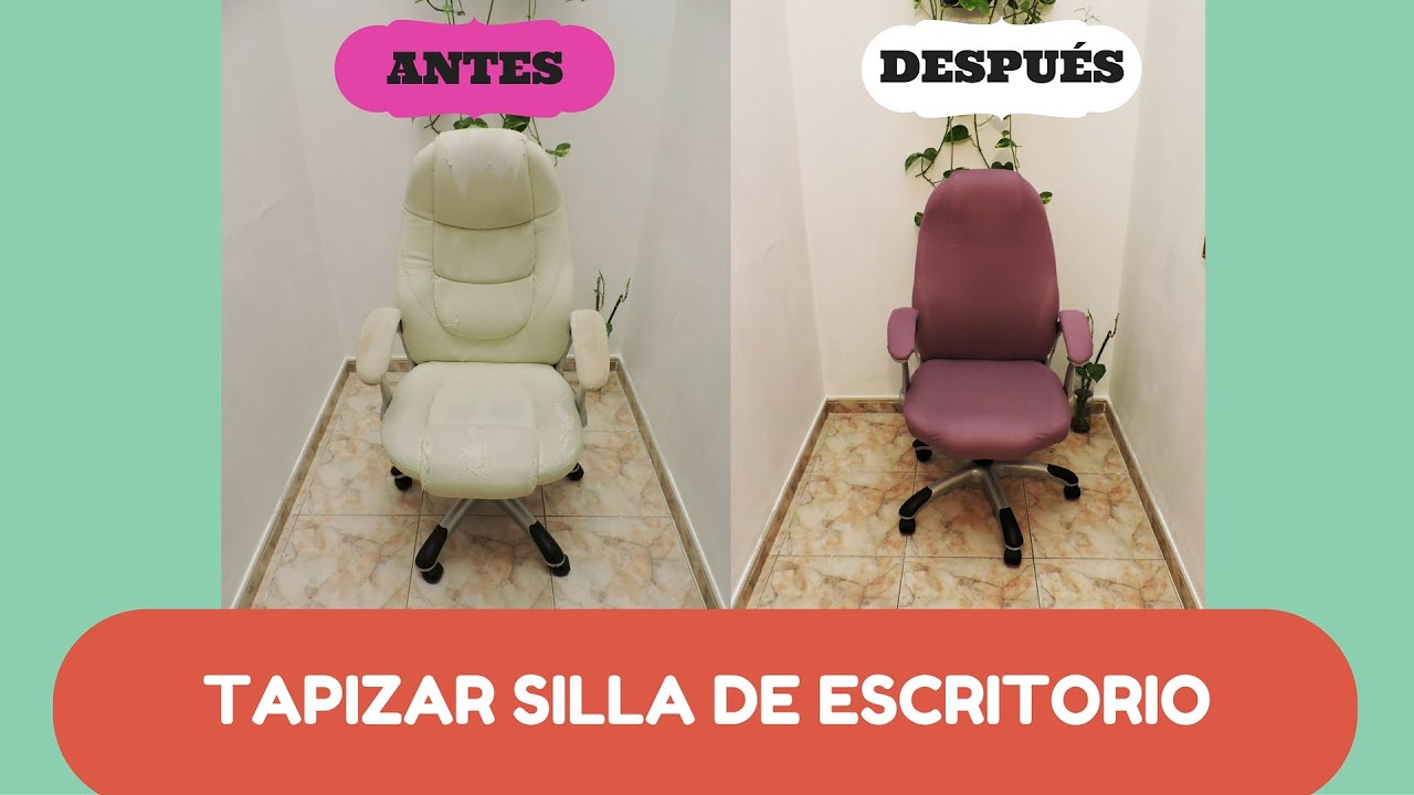 Forrar silla de escritorio diy recuperaci n youtube for Sillas para escritorio easy