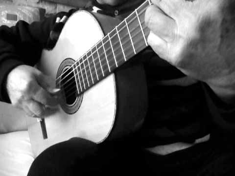 Milonga. Ejercicio para el trémolo flamenco. Incluye tabletura.