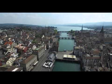 Zurich Drone View by DJI Phantom 3 Pro 4K HD