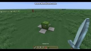 Нож в minecraft!Механизмы в майнкрафт 1 серия