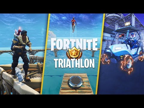 TRIATHLON COURSE - Custom Gamemode In Fortnite Battle Royale!