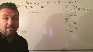 Teoremas de Relaciones Métricas en la Circunferencia