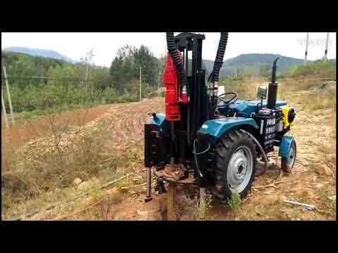 Pneumatic Tractor Mounted Rig For Rocks