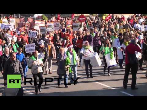 Spain: Anti-austerity protest erupts in Madrid