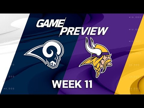 Los Angeles Rams vs. Minnesota Vikings | NFL Week 11 Game Preview | Move the Sticks