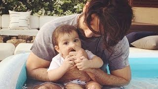 Shahid Kapoor chilling with Daughter Misha in pool   Photo