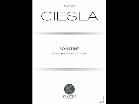 Alexis Ciesla - Sonatina for bass clarinet & piano