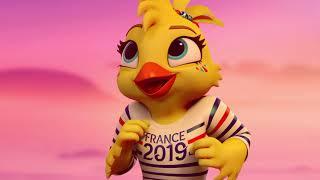 Ettie la Mascotte de la Coupe du Monde Féminine de la FIFA, France 2019