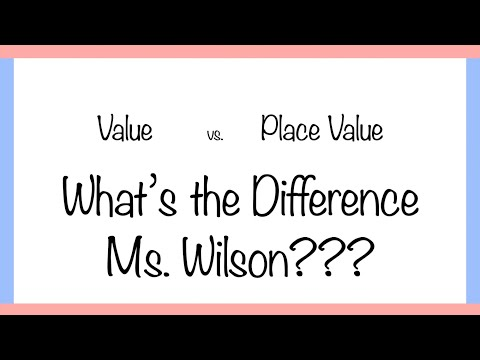 Value vs  Place Value