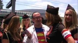 Clark Kent Interviews Iron Sky Babe Army