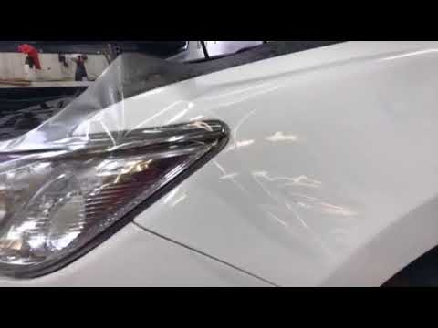 Защитная плёнка на стекла авто Реальное испытание - YouTube
